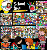 School Time Clip Art Mega Bundle