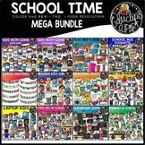 School Time Clip Art Mega Bundle {Educlips Clipart}