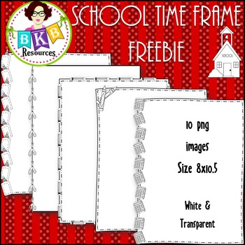 School Time Frame Freebies {Graphics for Commercial Use}