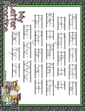 School Time Full Sheet Dotted Letter with Line Alphabet Pr