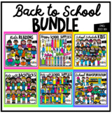 School Time GROWING BUNDLE (Clip Art for Personal & Commercial Use)
