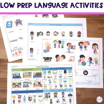 Back To School Vocabulary & Grammar Activities