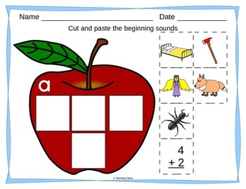 Back to School Worksheets Emergent Reader Task Cards