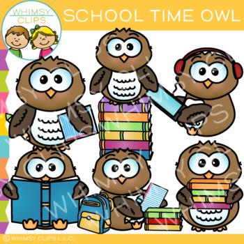 School Time Owl Clip Art