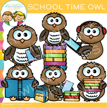 School Time Owl Clip Art