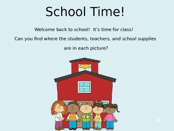 School Time! Prepositions and Concepts - Powerpoint