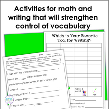 Back to School Riddles for Inference and Vocabulary