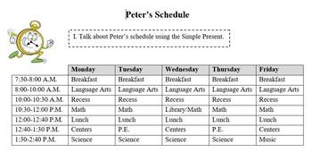 School Time Schedule Speaking Activity