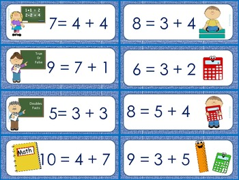 School Time True-False Equations