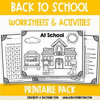 School Time - Vocabulary Pack