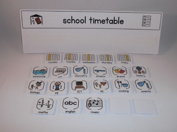 School Timetable Board and Cards - Boardmaker Visual Aids for Autism SPED