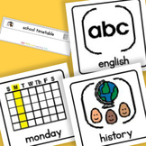School Timetable Board and Cards - Boardmaker Visual Aids