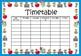 School Timetable - Class Timetable - Editable