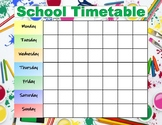School Timetable Weekly Schedule