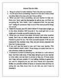 School Tips for Kids