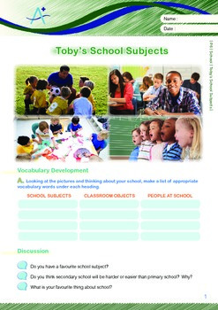 School - Toby's School Subjects - Grade 6