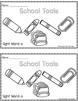 """School Tools: 2 Differentiated Sight Word Emergent Readers """"a"""""""
