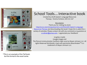 School Tools....An Interactive Book
