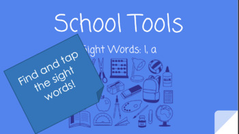 School Tools: Finding the Snap/Sight Words Reading POWERPOINT!