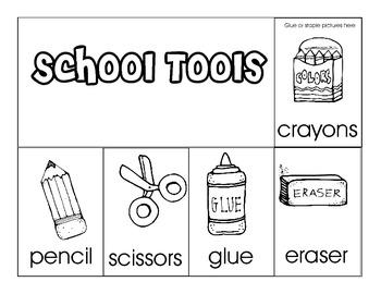 School Tools Flip Book