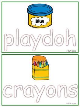 School Tools Fun! Playdoh Mats