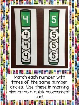 School Tools Math and Language/Literacy Centers BUNDLE