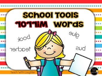 School Tools Mirror Words