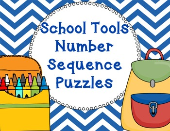School Tools Number Sequence Puzzles