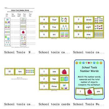 School Tools Number Words