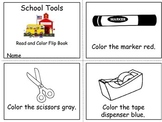 School Tools Read and Color Emergent Reader
