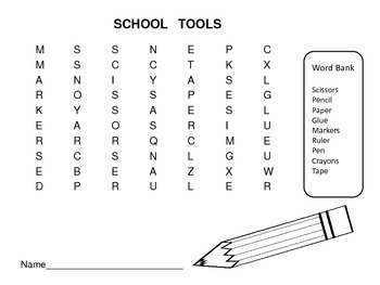 School Tools Read and Color Emergent Reader