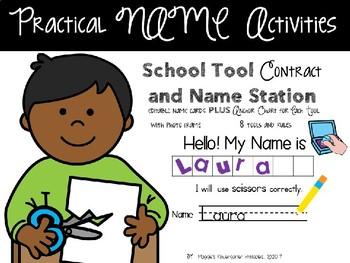 School Tools Rules Name Activities