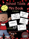 School Tools {Supplies} Mini Book Emergent Reader {Picture Clues}