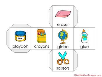 School Tools Vocabulary On a Roll