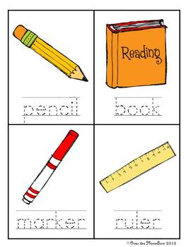 School Tools Write / Stamp the Room Activity Pack