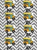 School Transportation Backpack Tags and Signs-Gray