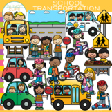 School Transportation Clip Art {How We Go Home}
