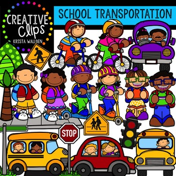 School Transportation {Creative Clips Digital Clipart}