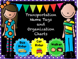School Transportation Name Tags and  Organizational Charts