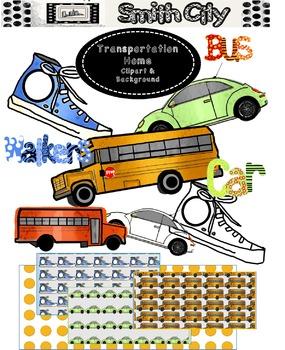 School Transportation clipart