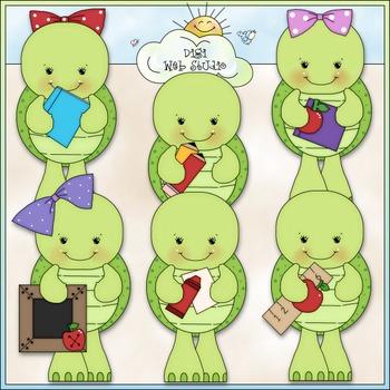 School Turtles Clip Art - Back To School Clip Art - CU Cli