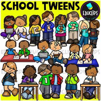 School Tweens Clip Art Bundle {Educlips Clipart}