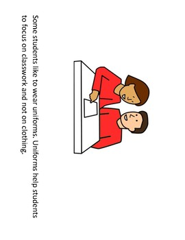 School Uniforms Informational Text and Opinion Paragraph Outline
