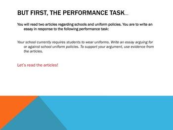 School Uniforms: Introduction to Argumentative Writing