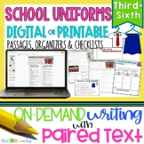 School Uniforms • Print or Digital Paired Text Passages |