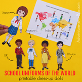 School Uniforms of the World: Printable Paper Dolls | Cultural Diversity Study