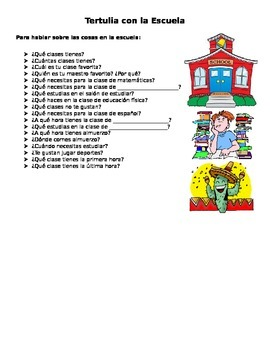 School Unit Speaking Questions