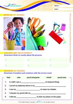 School - Using Stationery to Learn in School - Grade 2