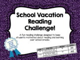 School Vacation Reading Challenge *EDITABLE*