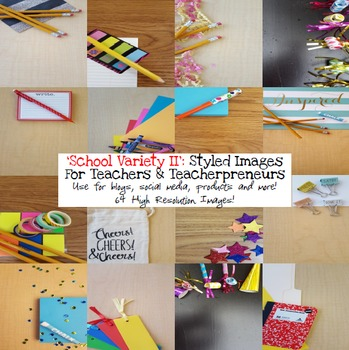 School Variety II Styled Images Stock Photos for Teacherpreneurs Per & Com Use
